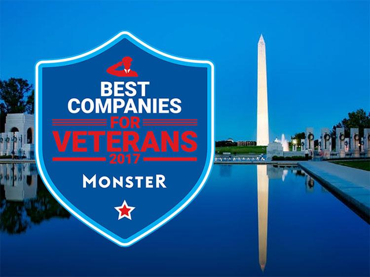 The Monster 2017 best companies for veterans