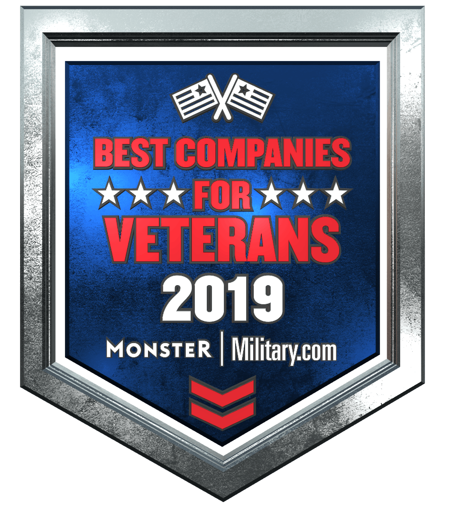 The Monster and Military.com 2019 best companies for veterans