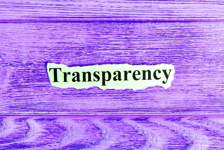 Transparency in corporate speak?
