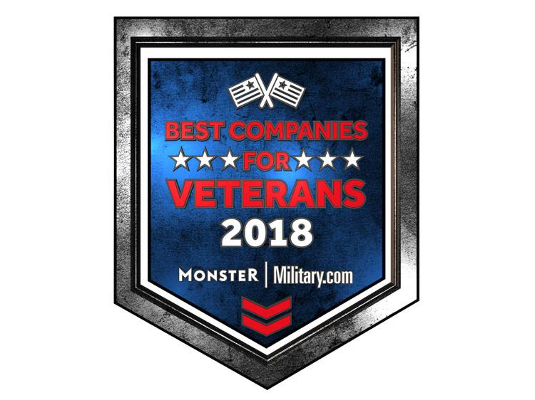 The Monster and Military.com 2018 best companies for veterans