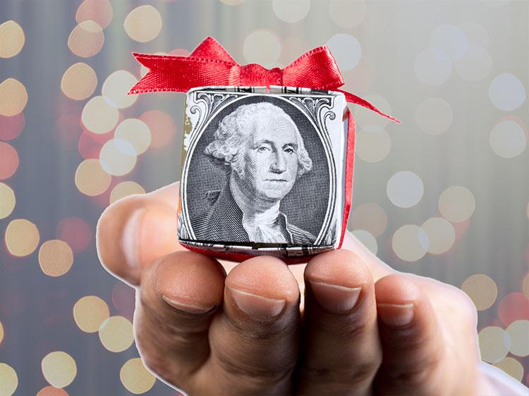 This year's average holiday bonus is likely to knock Scrooge off his feet
