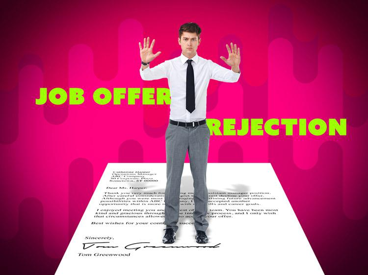 Job offer rejection letter example