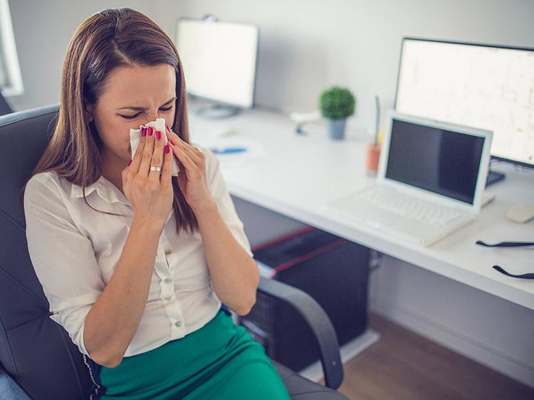 Should you go to work when you're sick?