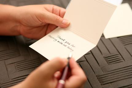 The benefits of a thank you note after a job interview