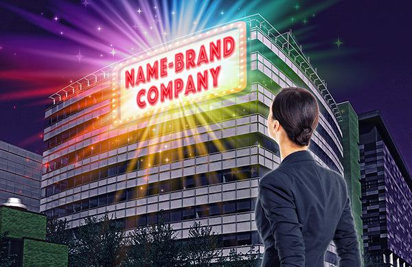 Is it better for your career if you work for name-brand companies?