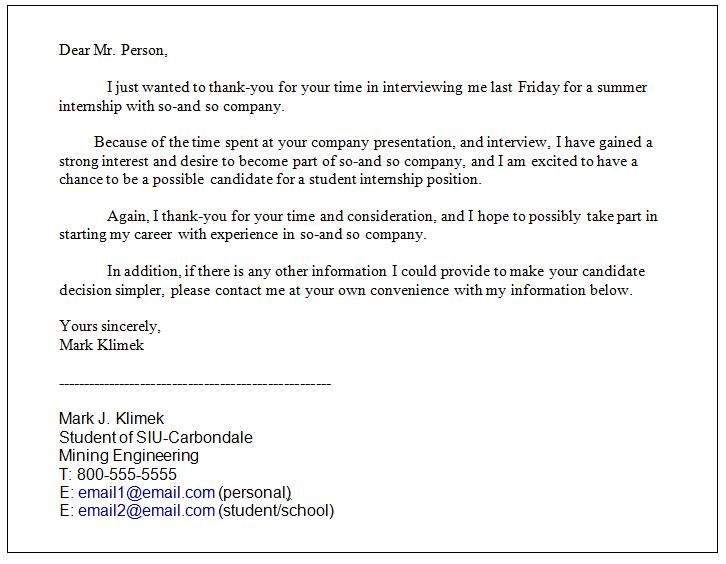 The follow up interview thank you email for Internal interview thank you email template