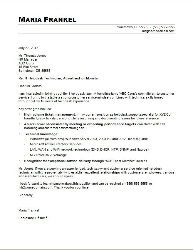 sample cover letter for an it professional it cover letter sample