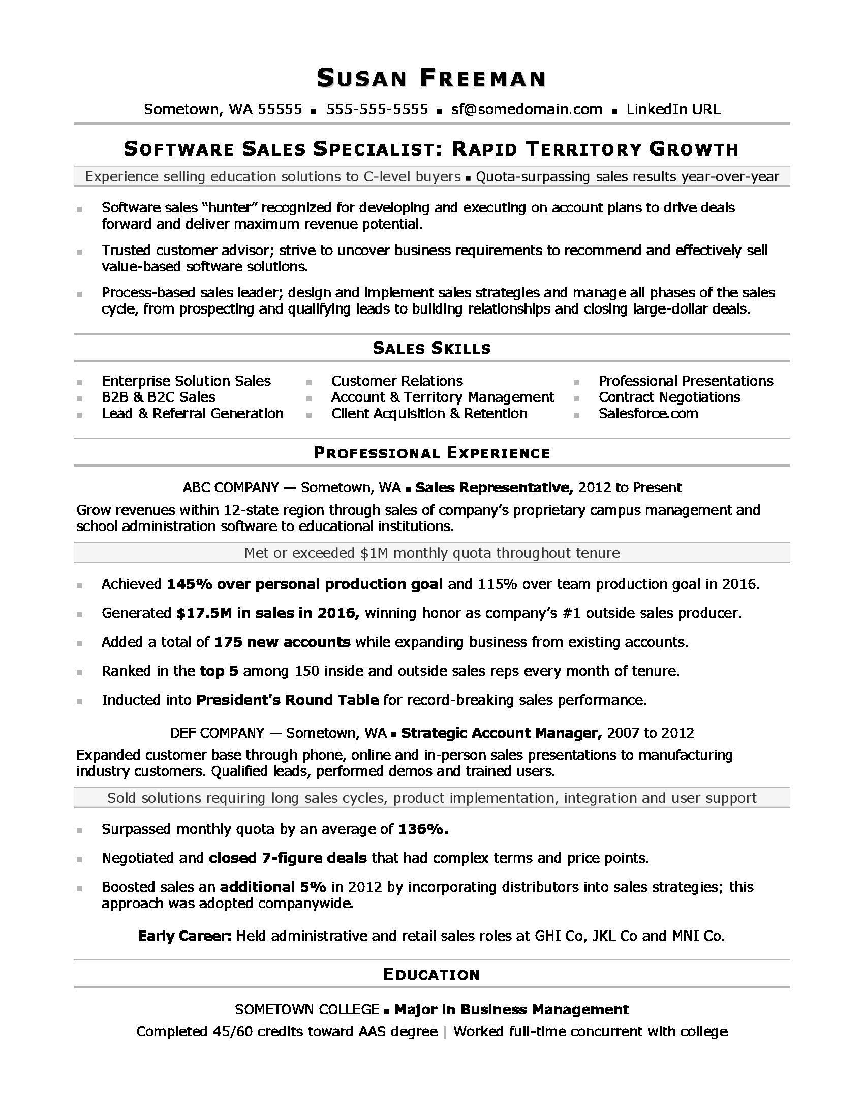 Resume Examples For Sales | Sales Associate Resume Sample Monster Com